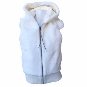 NWT Old Navy Reversible Fur Vest With Hood
